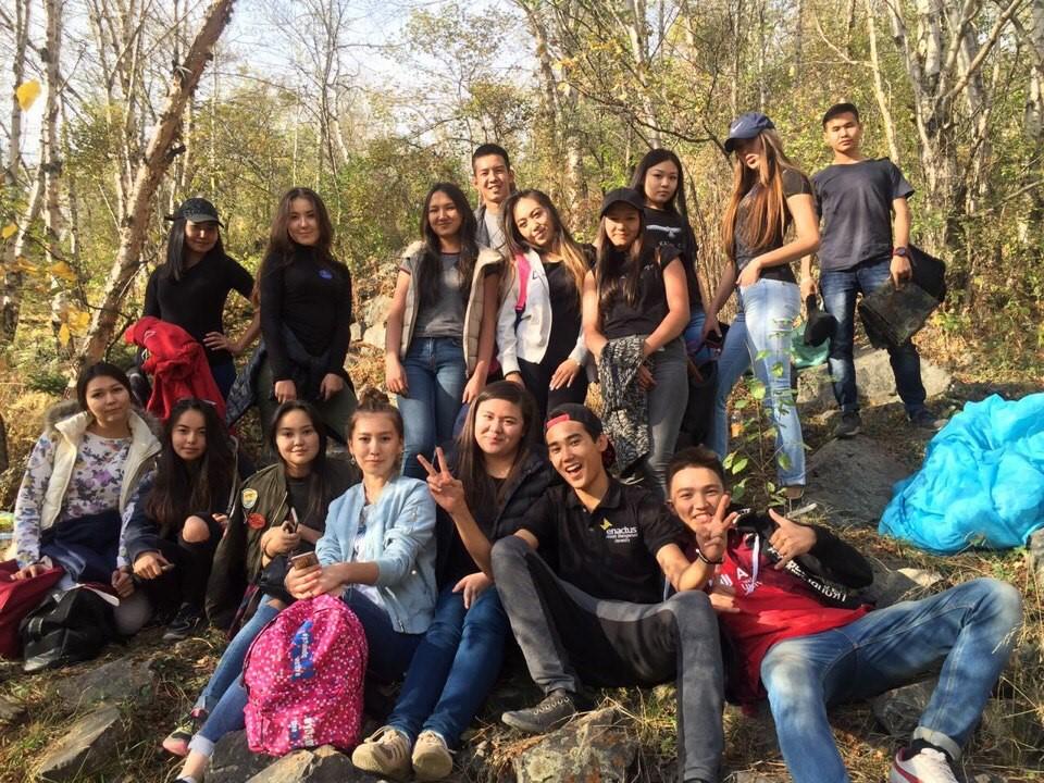 отдых студентов на природе студенток